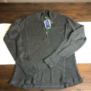 Eddie Bauer XL NWT gray half zip pullover